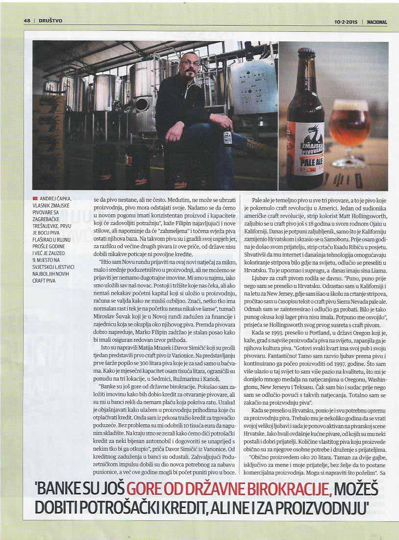 Riegele/Sierra Nevada Bavarische Ale2 – American Pale Ale pivo pratili su kanapei.